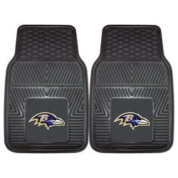 "NFL Baltimore Ravens 2 piece Heavy Duty Vinyl Car Mat - Size: 27""x 18"""