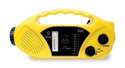 Stansport Hand Crank/Solar Battery Radio/Flashlight - Yellow