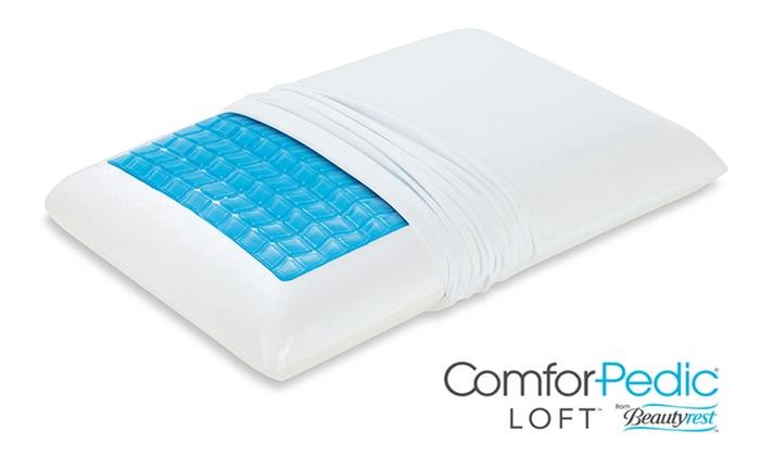 beautyrest pillow. Beautyrest ComforPedic Loft Memory Foam And Cooling Gel Pillow - White B