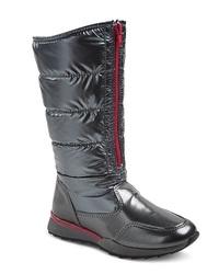 Merona Girl's Buffy Boots - Black - Size: 2