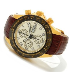 Men's Speedway Analog Display Swiss Automatic Watch - Brown / Gold