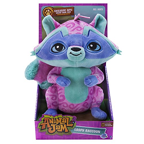 Animal Jam 12 inch Deluxe Plush Animal - LOOPY RACCOON - Exclusive