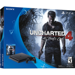 PlayStation 4 Slim 500GB Console Uncharted 4 Bundle