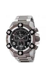 Invicta Reserve Men's Arsenal Valjoux Bracelet Watch - Silvrtone/Black