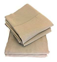 New Domaine Bed Sheet Set - Taupe - Size: King 1304383