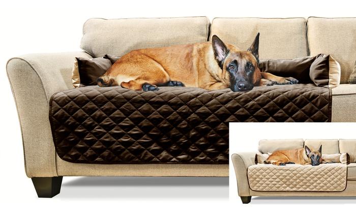 Marvelous Furhaven Sofa Buddy Pet Bed Furniture Cover Espresso Clay Machost Co Dining Chair Design Ideas Machostcouk