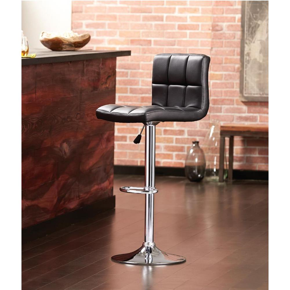 Home Decorators Collection Padded High Back Bar Stool Black Check Back Soon Blinq