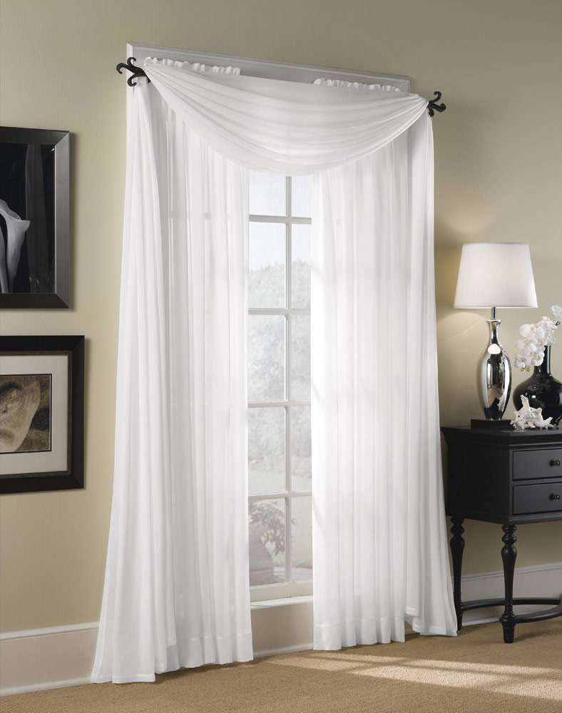 Amazing Sheer Elegance Organizer Curtain White - Check Back Soon ...