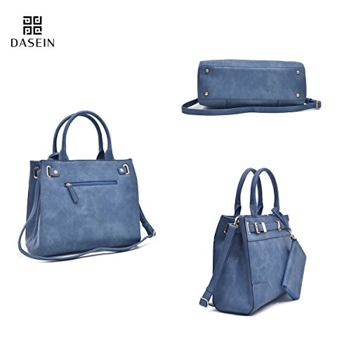 cf84e8b3b0 ... Dasein Women s Designer Belted Satchel Handbag Top Handle Purse Work Bag  Briefcase With Shoulder Strap Coin ...