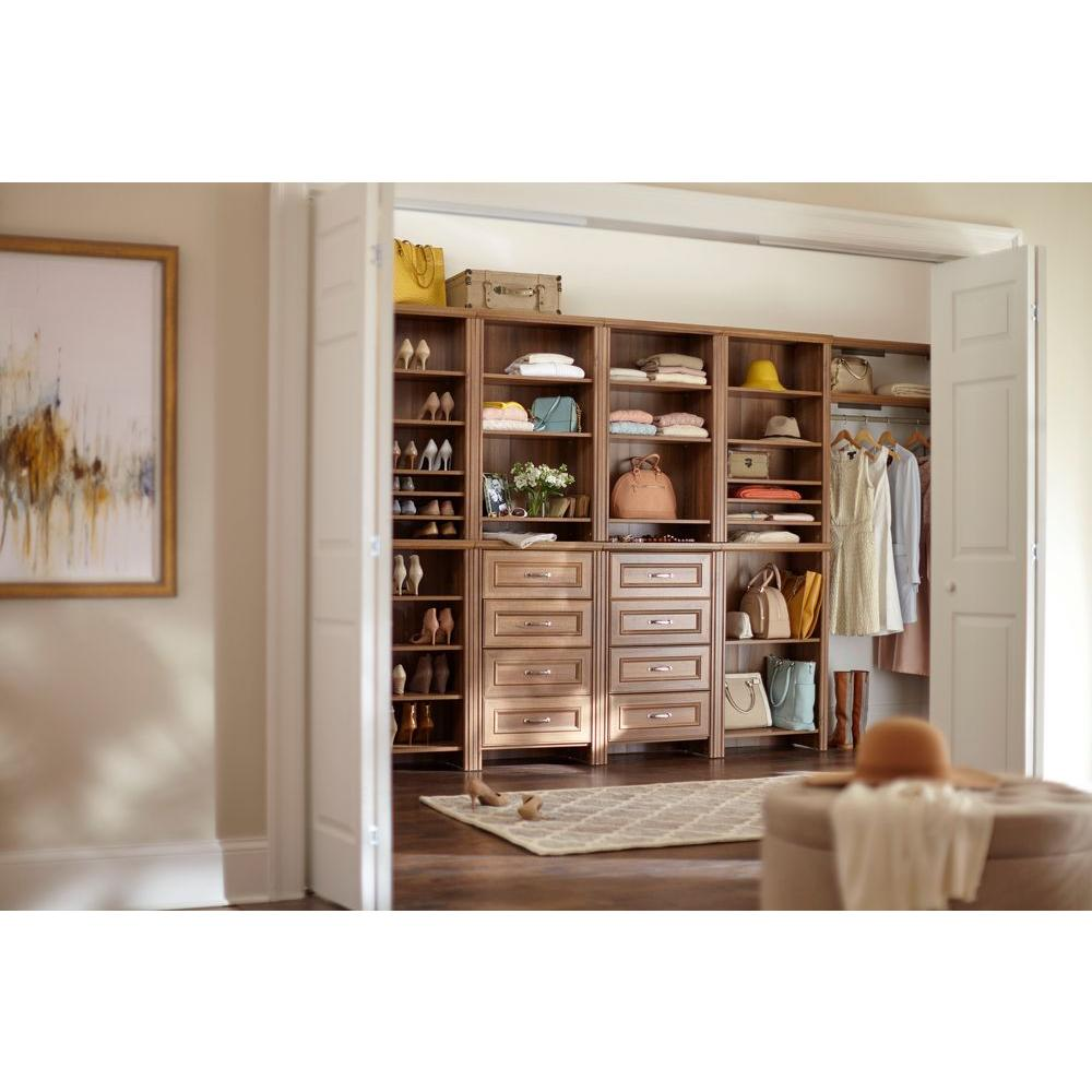 Merveilleux ... ClosetMaid Impressions W Top Shelf Kit   Walnut   48 Inch ...