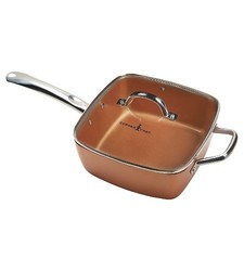 As Seen On Tv 5pc Copper Chef Square Fry Pan With Glass