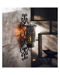 American Atelier Mosaic Glass and Metal Wall Lighting Sconce 1331026