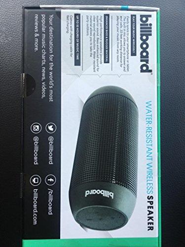 Billboard Water Resistant Bluetooth Wireless Speaker - Black (BB742