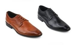 Xray Static Plain Toe Men's Dress Shoes: Black/Size 10