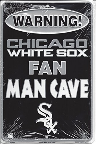 Man Cave Metal : Rico quot chicago white sox man cave metal parking