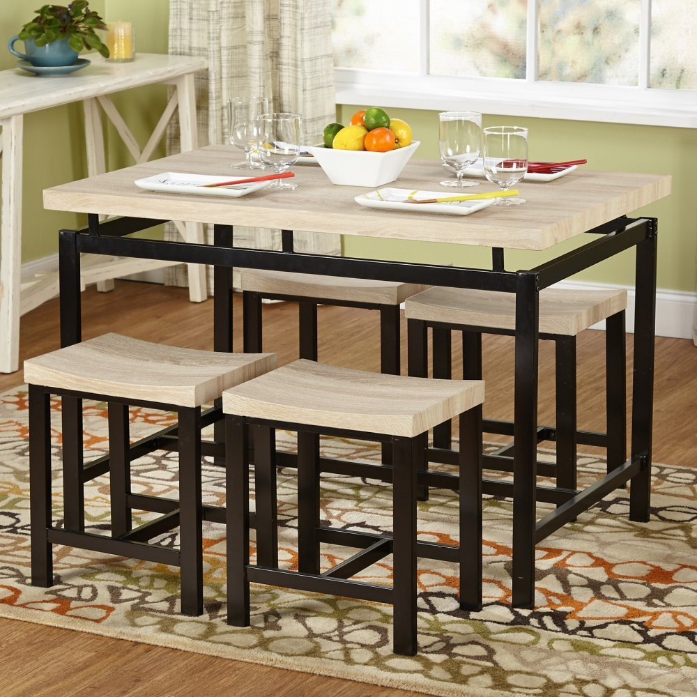 ... Target Marketing Systems 5 Piece Delano Dining Table Set   Black ...