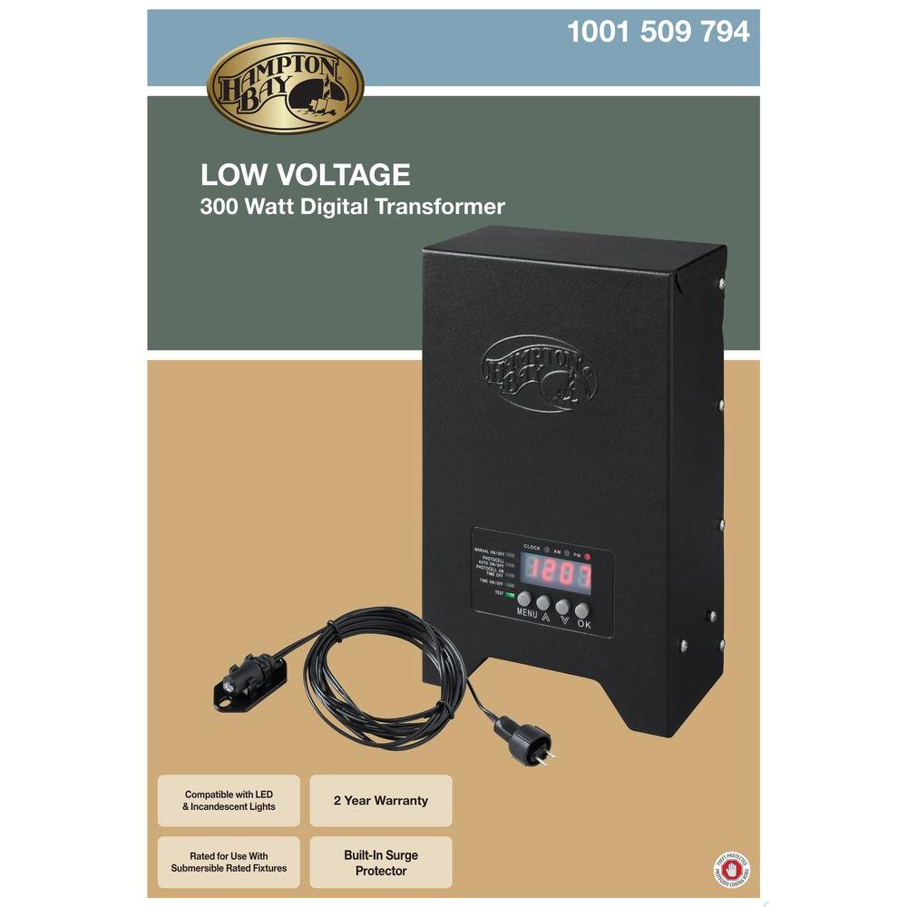 Hampton Bay Low Voltage Landscape Lighting Transformer: Hampton Bay Low-voltage 300-watt Landscape Transformer