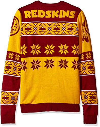 NFL Washington Redskins Unisex Adult Ugly Sweater - Size: Medium ...