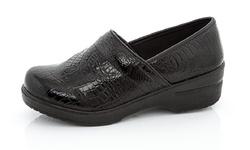 Rasolli Debby Women's Clogs - Black Crocodile - Size: 8.5