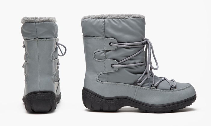 172d72e83 Olive Street Short Winter Boot - Grey - Size: 10 (LLF042) - Check ...