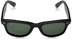 Ray-Ban Original Wayfarer Classic Black, Polarized Green Lenses - RB2140- 901/58- Black/Polarized Green Classic G-15, 50mm