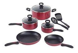 Mirro 10 Piece Non Stick Cookware Set - Red/Black