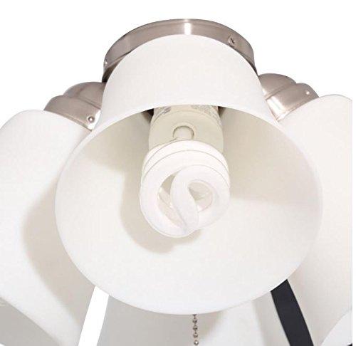 Hampton bay 4 light universal ceiling fan light kit white 64401 hampton bay 4 light universal ceiling fan light kit white 64401 aloadofball Images