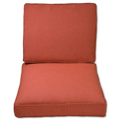 Threshold Halsted Outdoor Armless Sectional Cushion Set - Orange