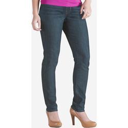 Signature Women's Curvy Skinny Jeans - Blue - Size: Large