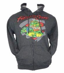 TMNT Zip Up Hoodie Sweatshirt - Grey/Blue - Size: M - Master Pack Qty 12