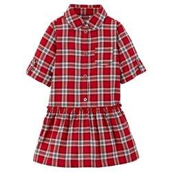 Girl's Herringbone Dress - Red - Size: 12 M - Master Pack Qty 12