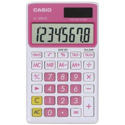 Casio Standard Function Calculator - Pink - SL-300VC-PK
