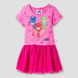 7638b4532 PJ Masks Toddler Girls' Short Sleeve T-Shirt Dress - Pink - Size: 3T ...