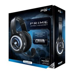 DreamGEAR Wired Gaming Headset PlayStation 4 - Black / Blue - (DGPS4-6404)