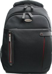 """Eco Style Carrying Case/ Backpack for 16.4"""" Notebook - Red/ Black"""