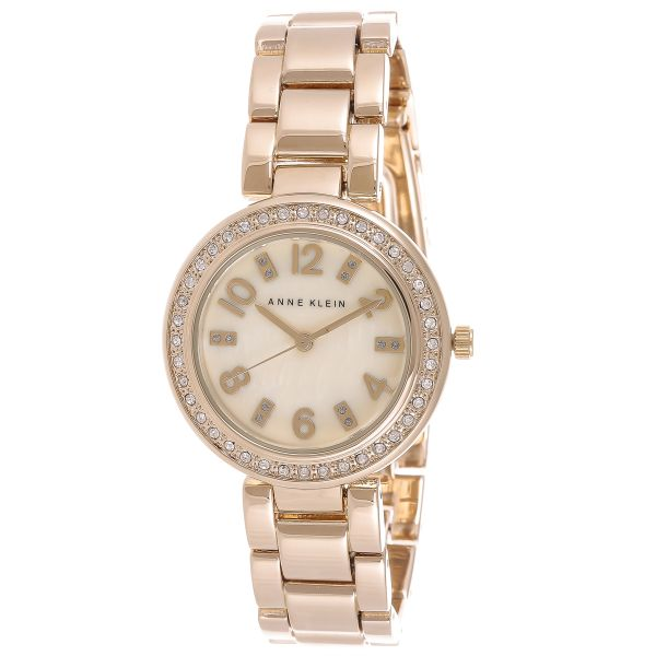 Anne Klein Women's MOP Dial Crystal Watch