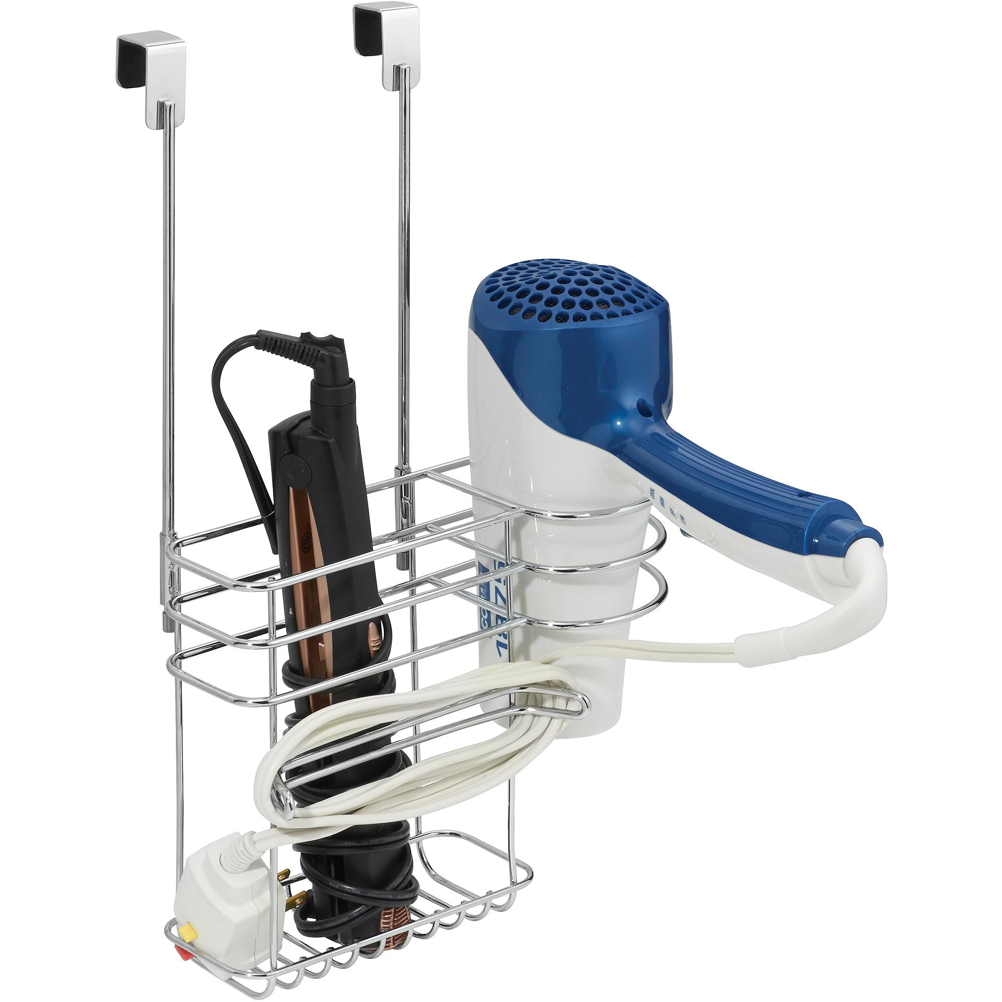 ... Interdesign Cabinet Hair Dryer U0026 Curling Iron Holder Organizer   Chrome  ...