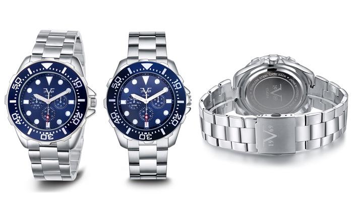 bb47787cda V19.69 Italia Men s Sports Watch - Blue Dial Silver Bracelet - Check ...