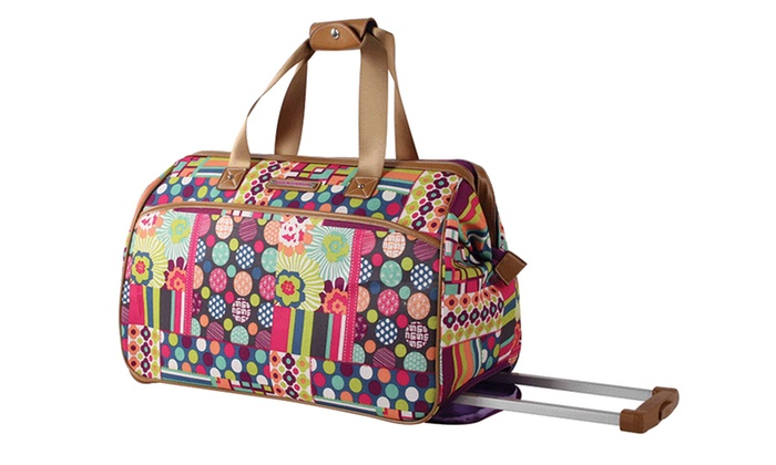 Lily Bloom Origami Wheeled Under Seat Duffel Bags Multicolored