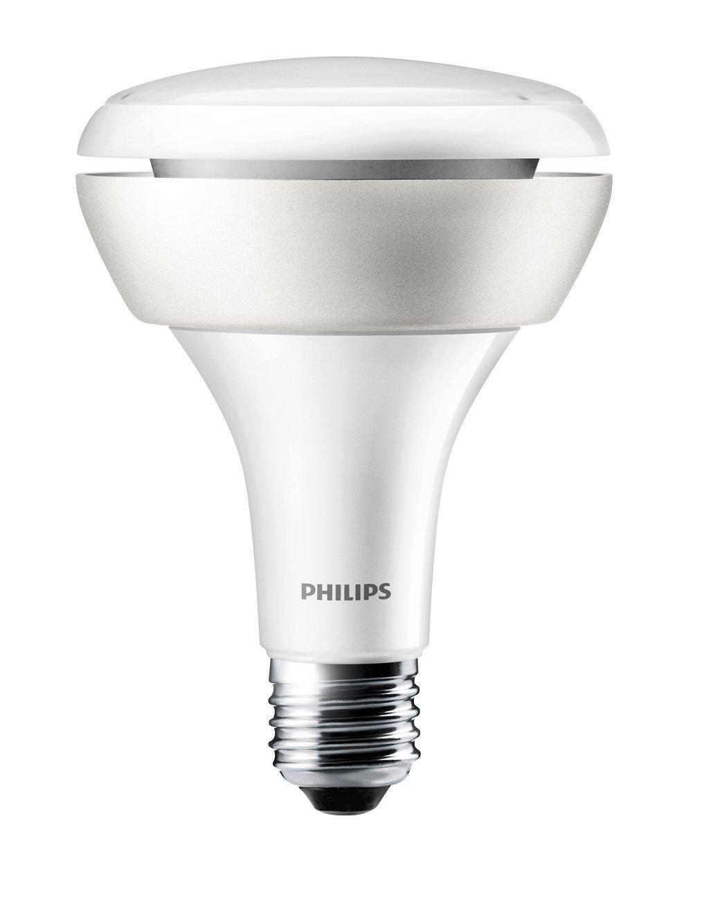 Philips Hue 65W Equivalent BR30 Single LED Light Bulb (432690 ...