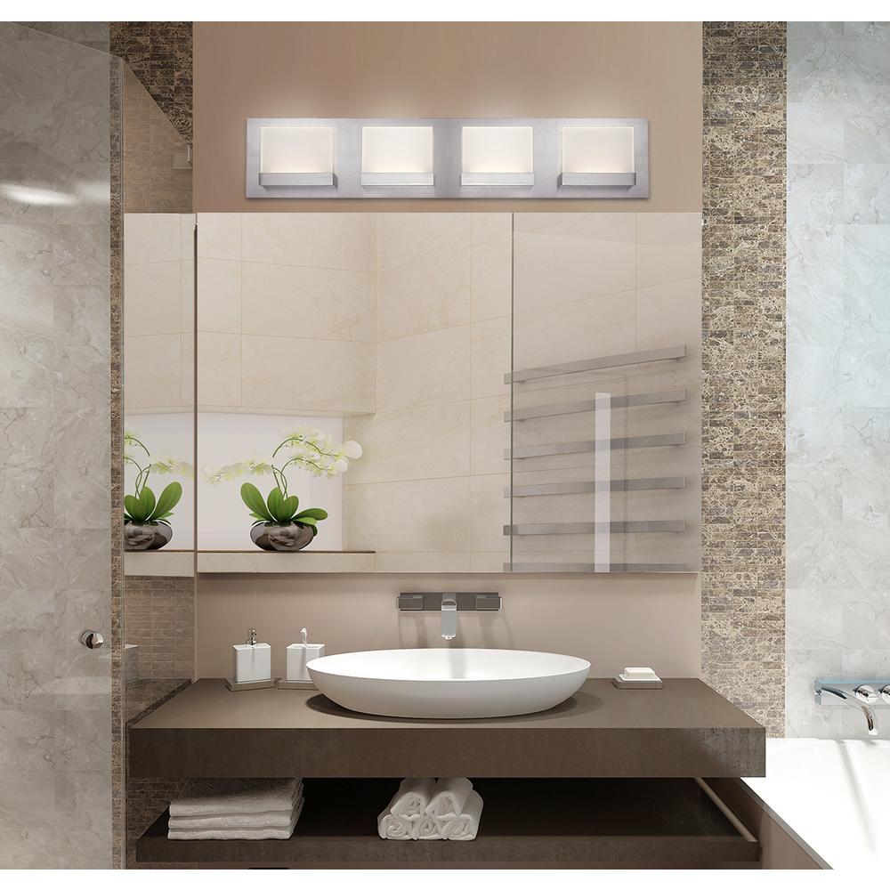 HDC Alberson Collection 4-Light LED Bath Bar Light - Brushed Nickel ...