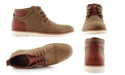 Mata Men's Dual Texture Mid Top Shoes - Brown - Size: 10