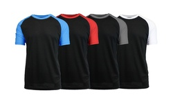 Galaxy By Harvic Men's Raglan Tee - Black Body - Size: XL (MSRG-90BK)
