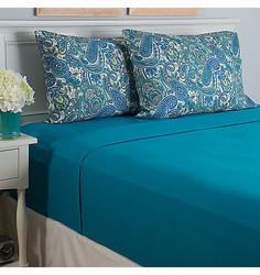 Cozelle Microfiber 12-Piece Sheet Set - Turquoise - Size: Queen