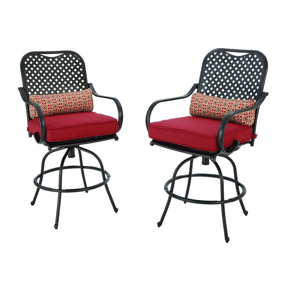 Hampton Bay Fall River Motion Bar Height Patio Dining Chair 2pk Check Back Soon Blinq