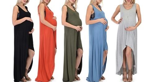 b9dc05f65cc Lyss Loo Women s Maternity Maxi Dress - Black - Size  Large - Check ...