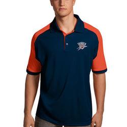 Men's Oklahoma City Thunder Century Collared T-Shirt - Navy/Orange - M 1381826