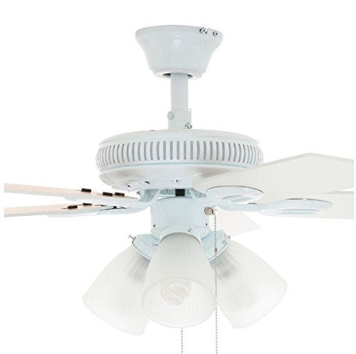 Hampton Bay Glendale 42 In Ceiling Fan White Am212 Wh