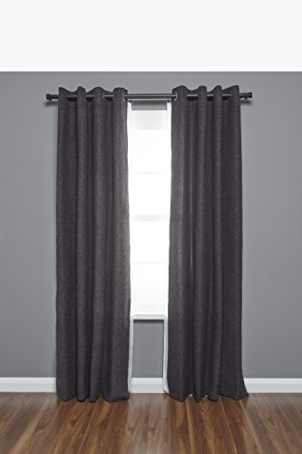 Umbra Ca Double Curtain Rod For Window Brushed Black Size 36 72
