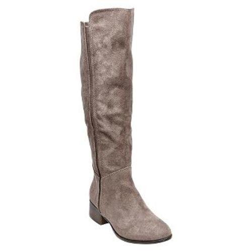 merona s suede fashion boots grey size 7 5
